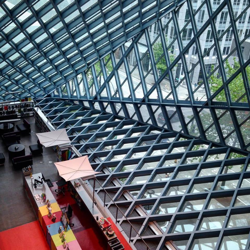 Lauren and I made a visit to the Seattle Public Library.