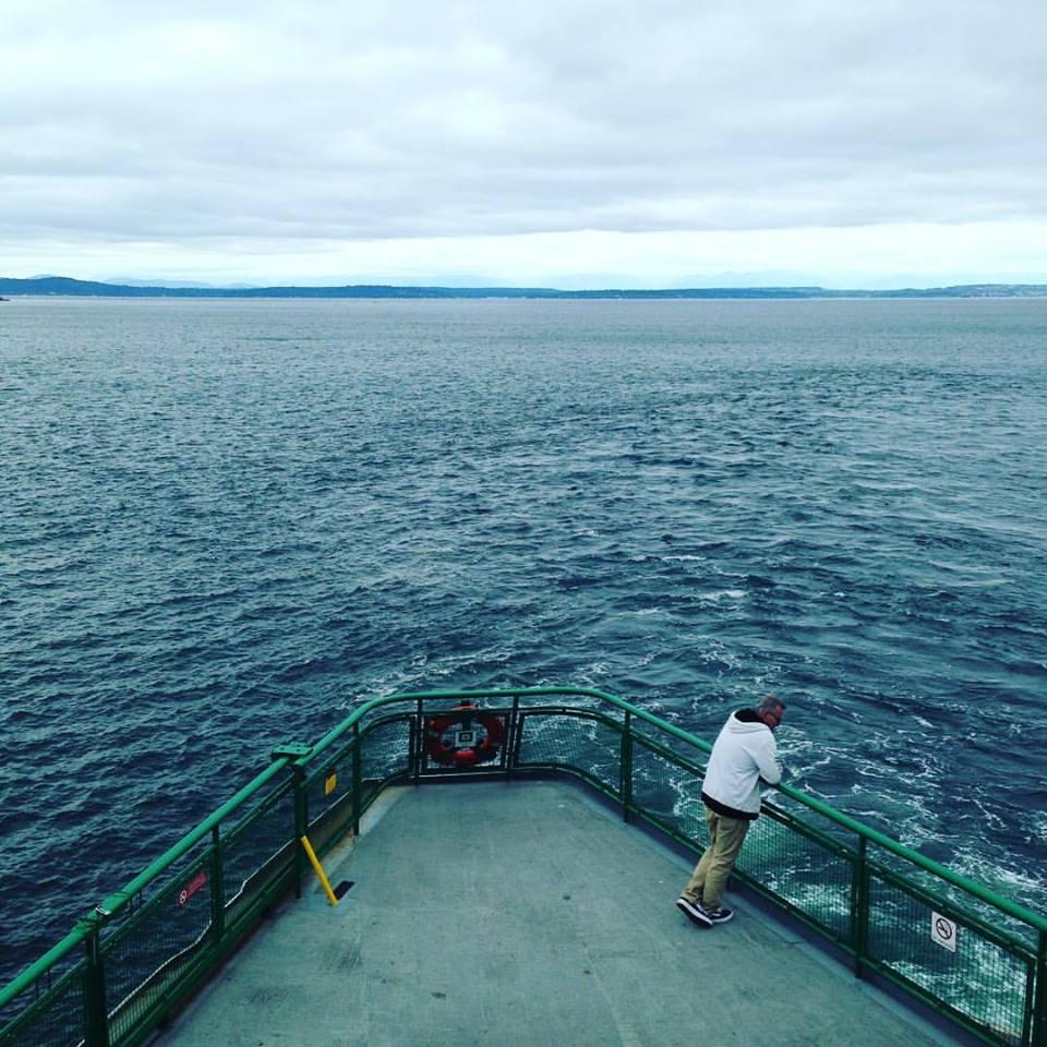 We took a ferry to Bainbridge island across the Puget Sound.