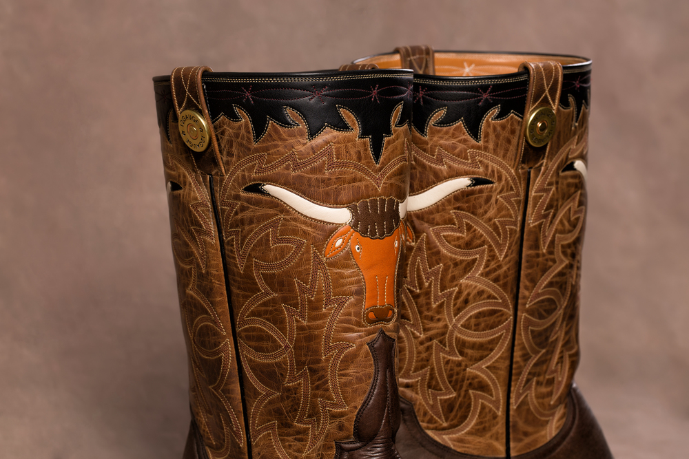 Inlay Longhorn on Mad Dog Goat