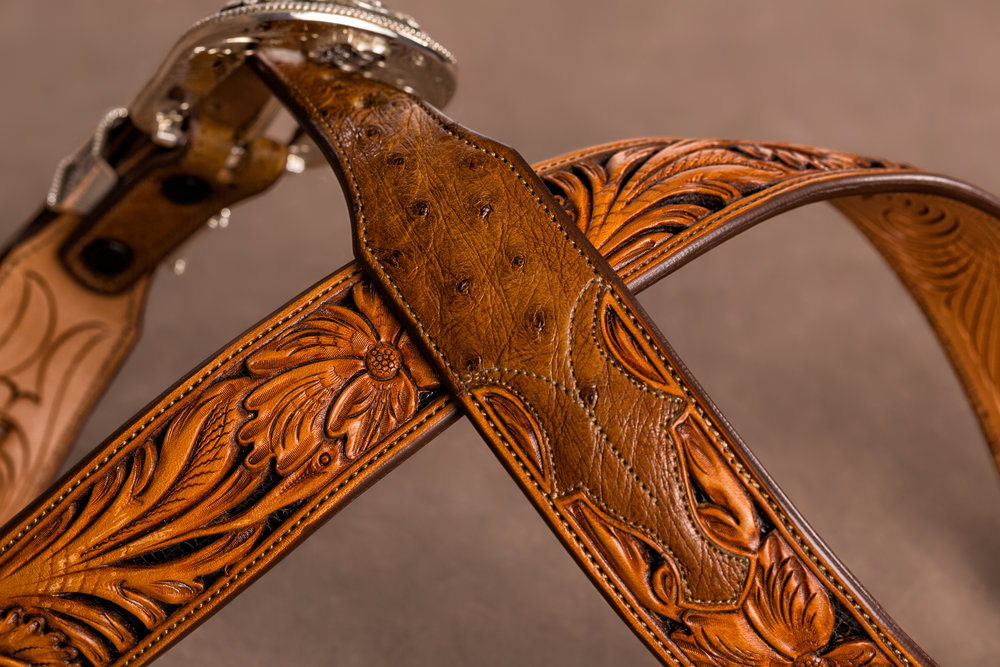 2nd Generation Silver Label Exotic in Saddle Tan Ostrich