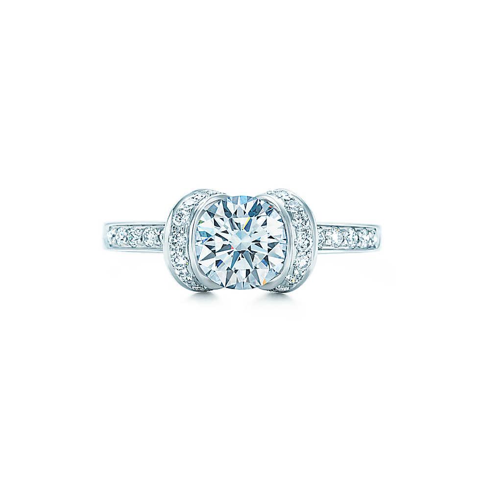 Tiffany Co Round Ribbon Diamond Ring HOCK MY ROCK