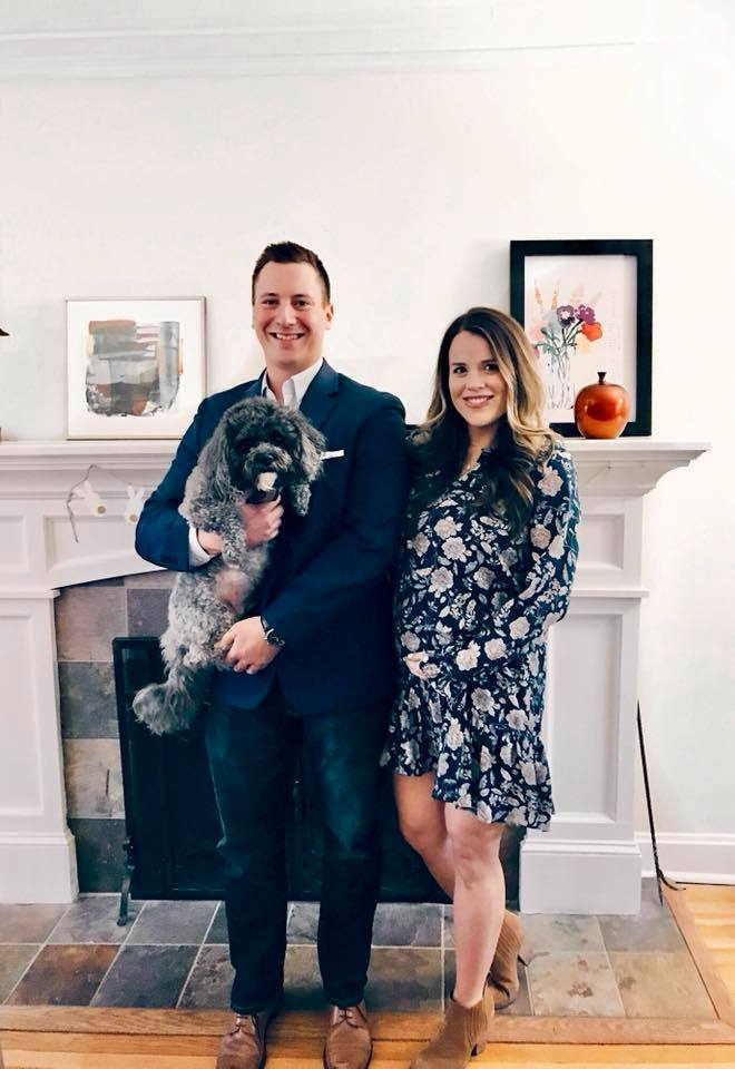 We had a photo shoot plan for the announcement, but then it snowed and was FREEZING - so opted for a regular photo indoors. Oh well!