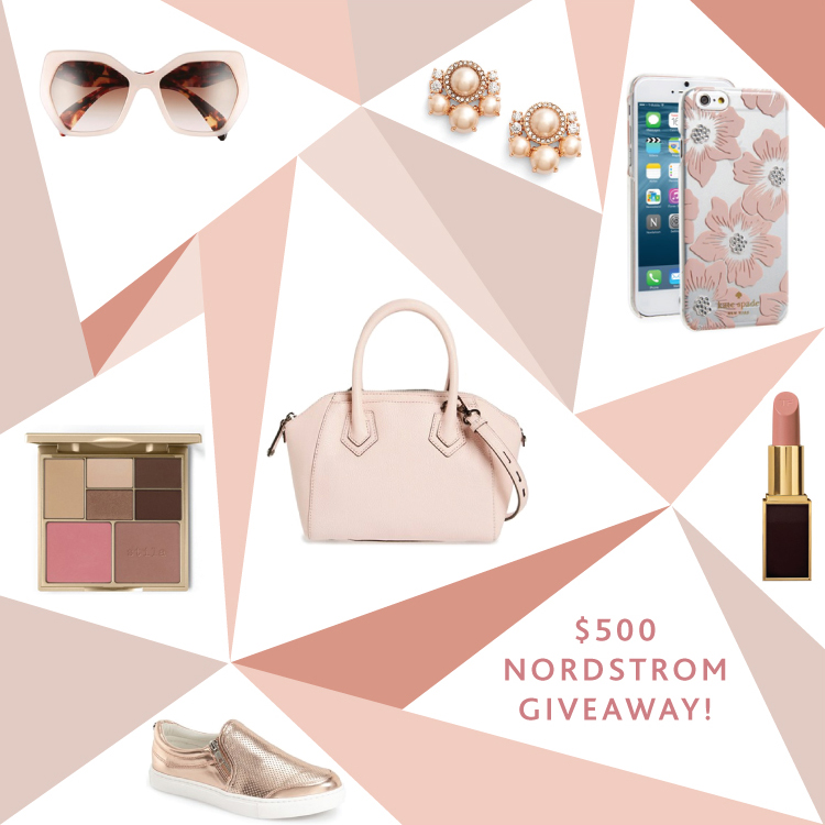 One lucky winner will receive a $500 gift certificate to Nordstrom (which also works at Nordstrom Rack, yay!)! Hop on over to this post for details and to ...