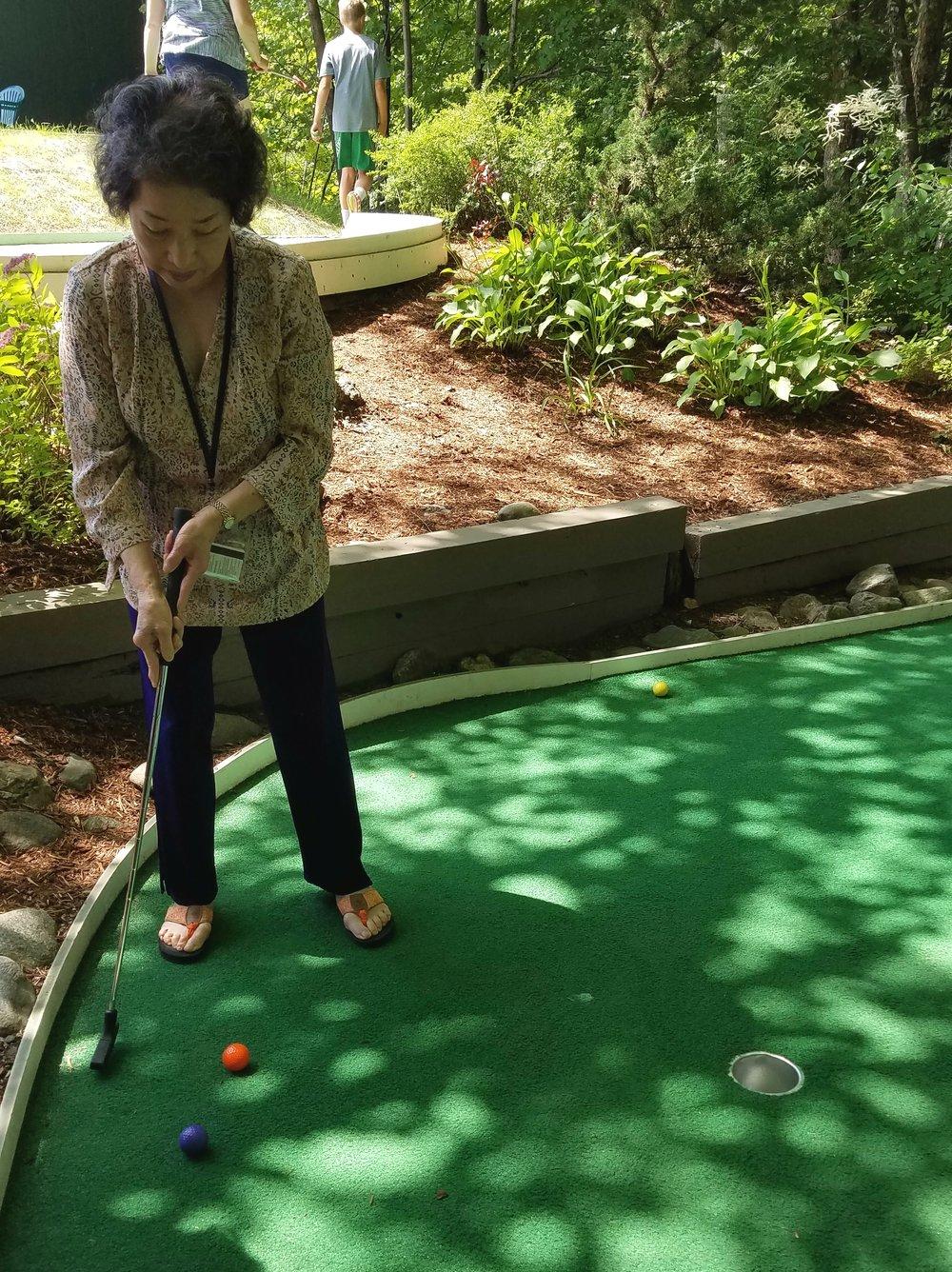 Watching my Mom play mini-golf gave me life