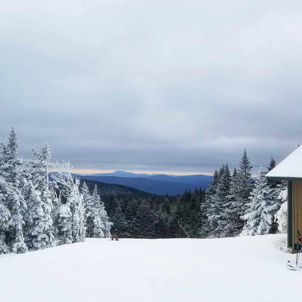A true winter wonderland at the summit.