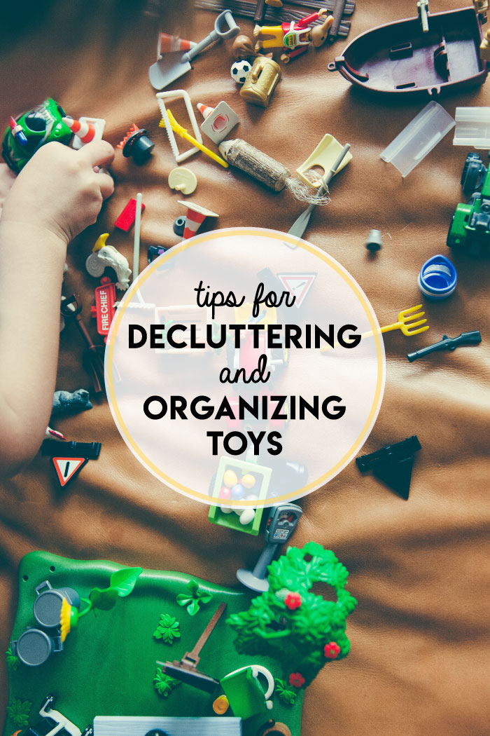 Once you declutter and organize toys, the final key step is to get into a tidy-up routine with your kids; YOU should not be solely responsible for toy cleanup!