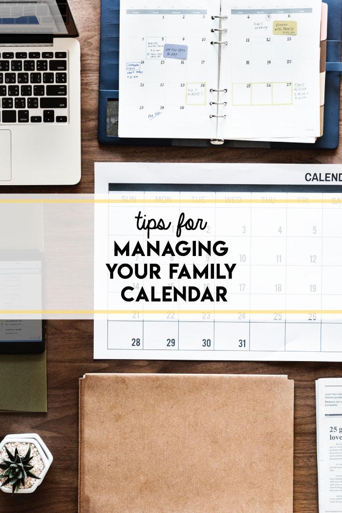 Managing a family calendar can sometimes feel like a giant, frustrating game of Tetris. These simple tips for managing your family calendar will help you move forward!