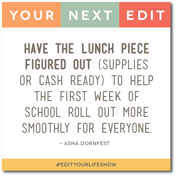 Edit Your Life podcast co-hosts Christine Koh + Asha Dornfest share tips for how to simplify back to school.