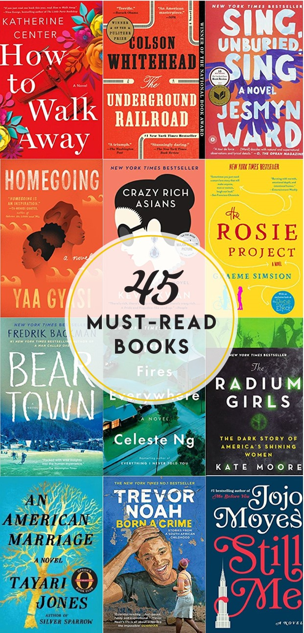 Head to the bookstore or library with this list of 45 must-read books!