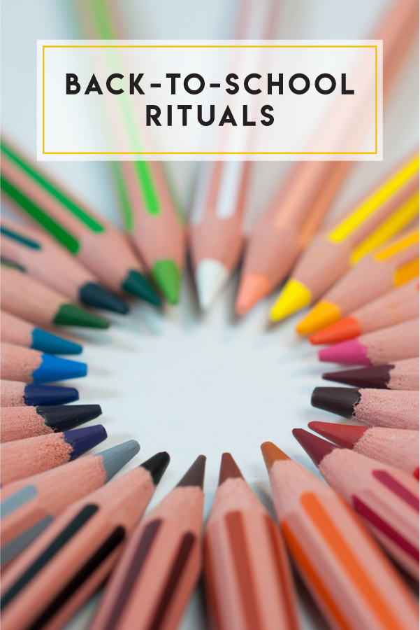 Develop old and new rituals with your kids as you prepare for back-to-school season!