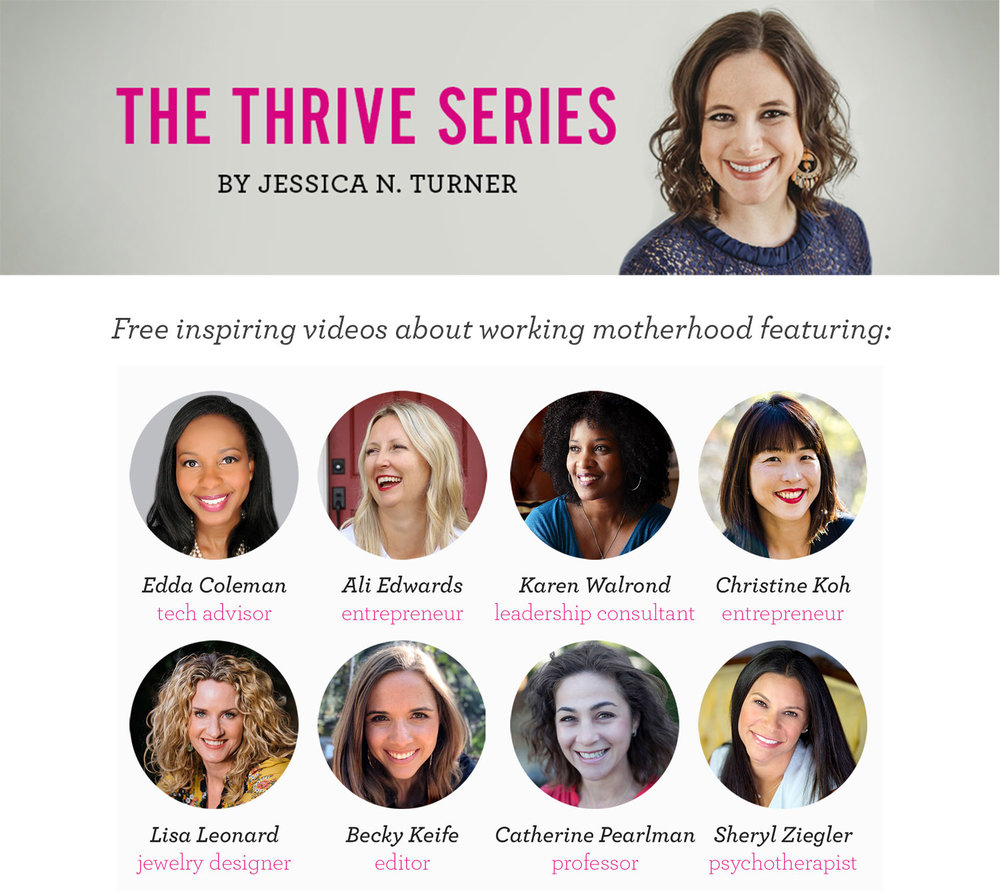 Check out Jessica Turner's video series on working motherhood