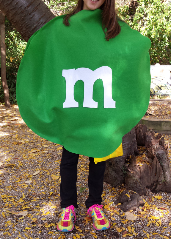 No-sew M&M costume