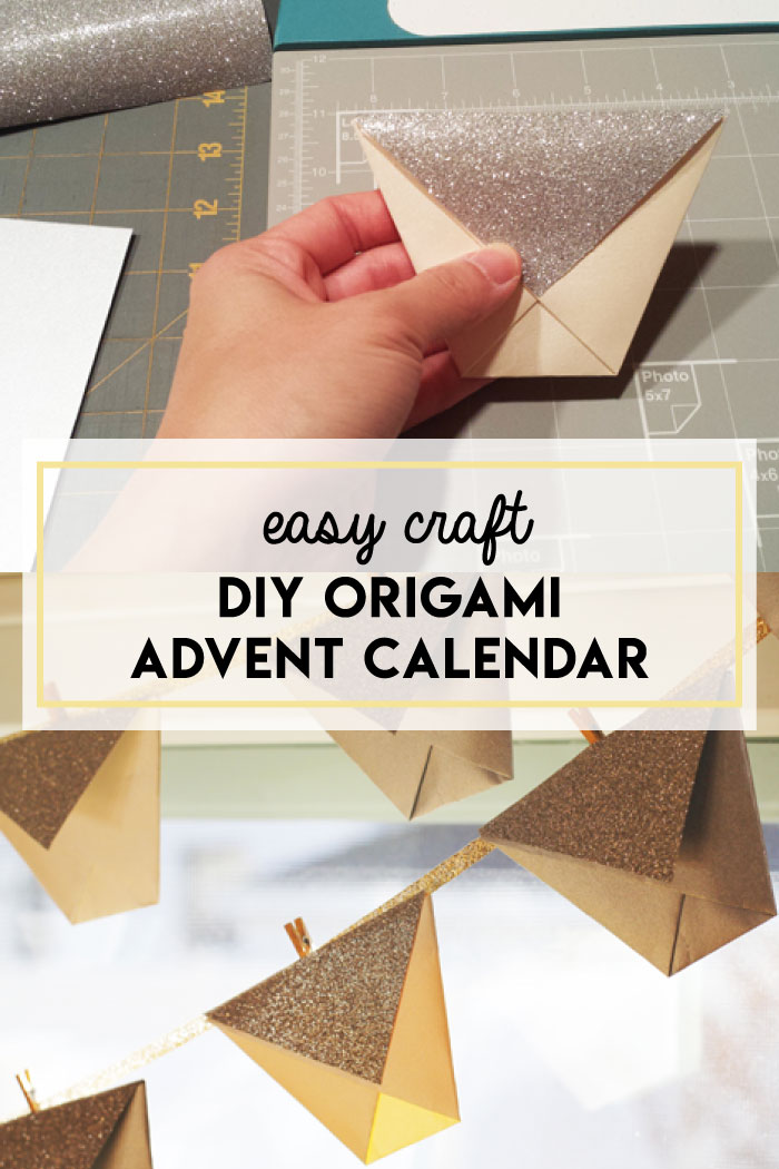 DIY origami advent calendar