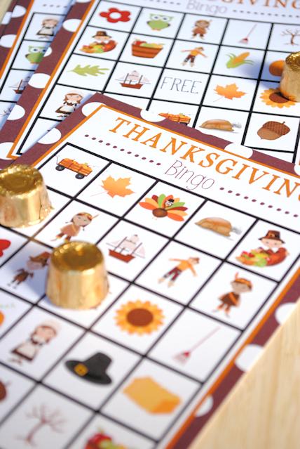10 free Thanksgiving printables: Thanksgiving bingo