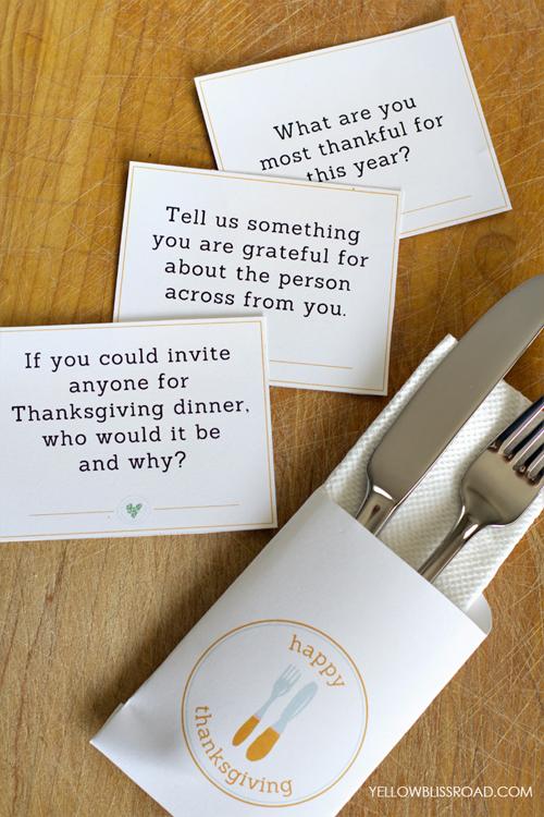 10 free Thanksgiving printables: Thanksgiving conversation starters