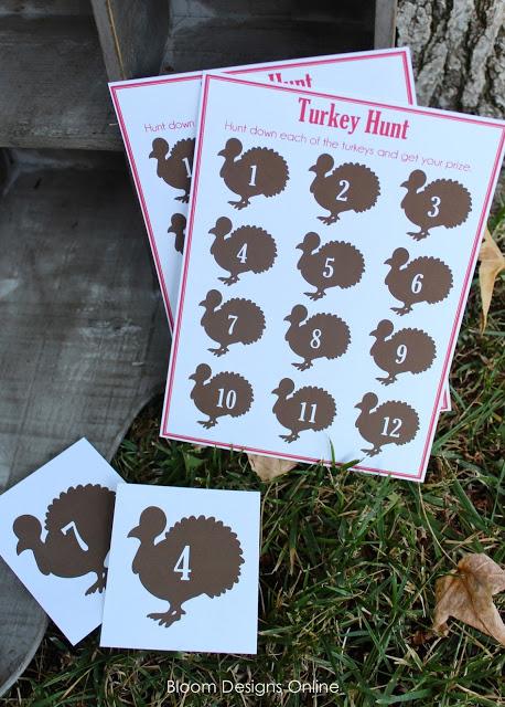 10 free Thanksgiving printables: Turkey hunt