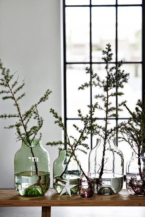 Branches in a vase for easy holiday decor