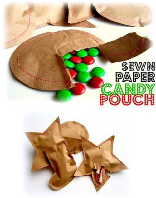 Creative kraft paper wrapping ideas: candy pouches