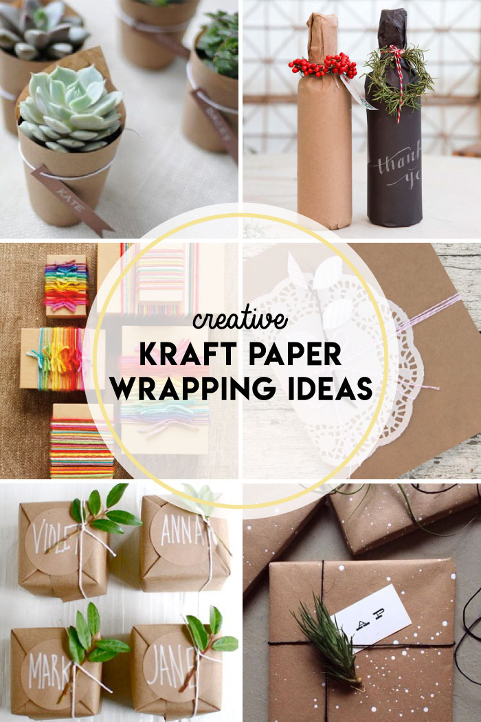 Creative kraft paper wrapping ideas