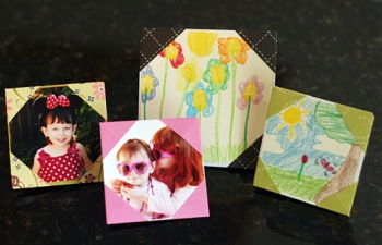 Origami picture frames kids can make