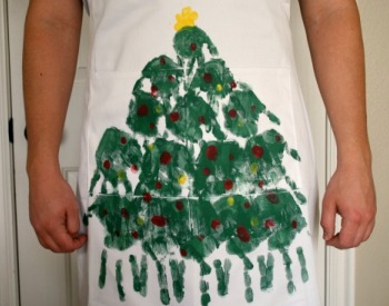 Handprint aprons kids can make