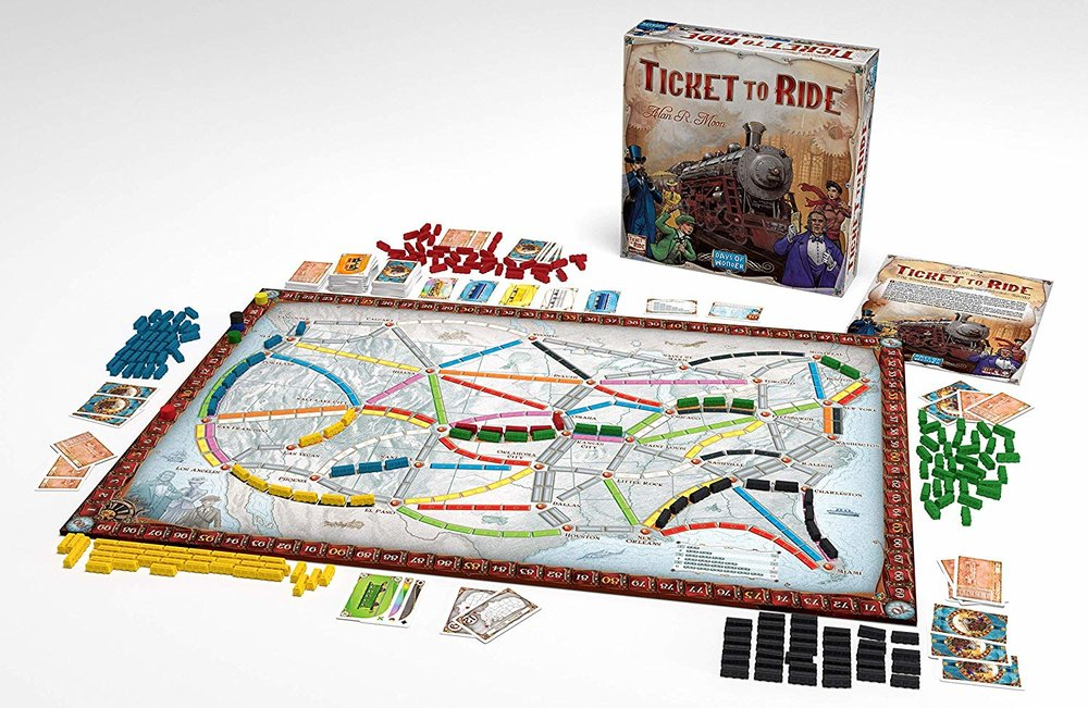 Ticket to Ride + other family board games that are actually fun for adults too!