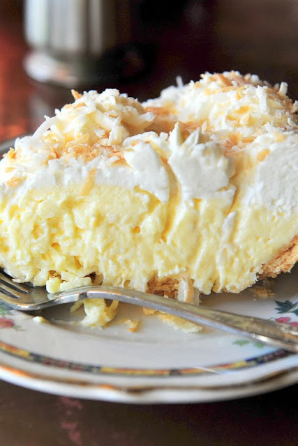 Old fashioned coconut cream pie via QVC