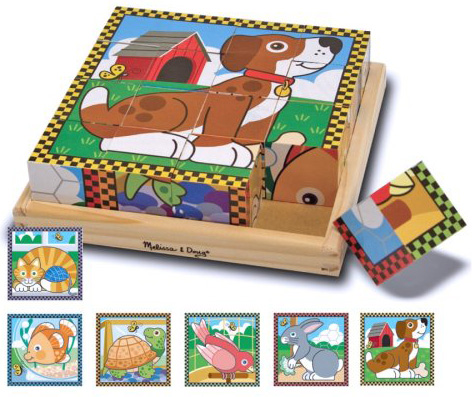 Melissa & Doug four-sided cube puzzles