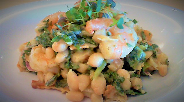 Dijon tarragon salmon and kale salad via Tufts Medical Center