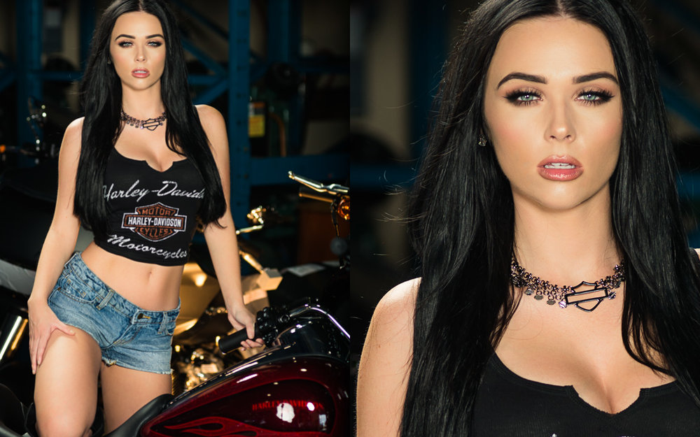 Miss Thunder Tower & Model Moriah Haralson photographed by The Carolina Model Project for Thunder Tower Harley-Davidson