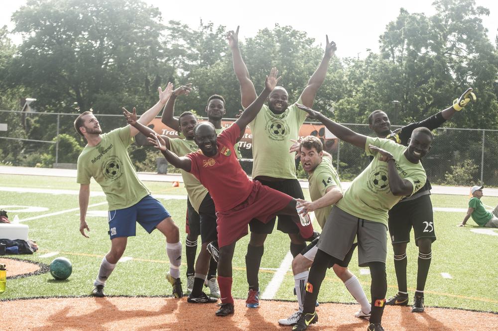 African Professional Network Team, just having fun.