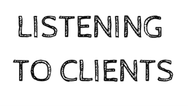 Listening to clients