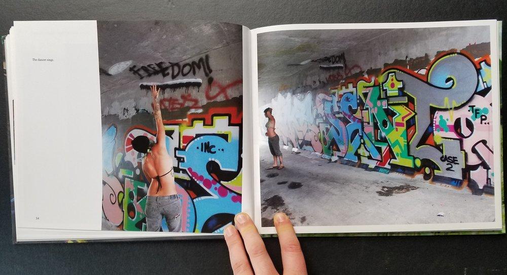 Champion, exploring graffiti tunnels in Hilo, Hawaii
