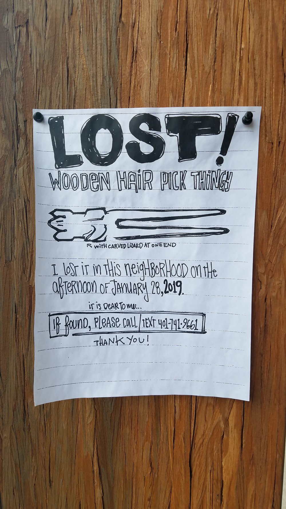 """This Flyer was a source of Inspiration for me last week as I was out walking. The Hairpin and the word """"Lost"""" is just brilliant."""