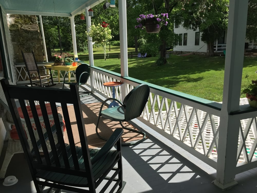 Porches at Nimrod Hall are perfect places to create.