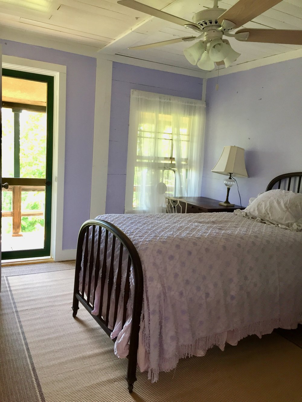 Bedrooms at Nimrod Hall are a blend of modern vintage with a focus on comfort and nostagia
