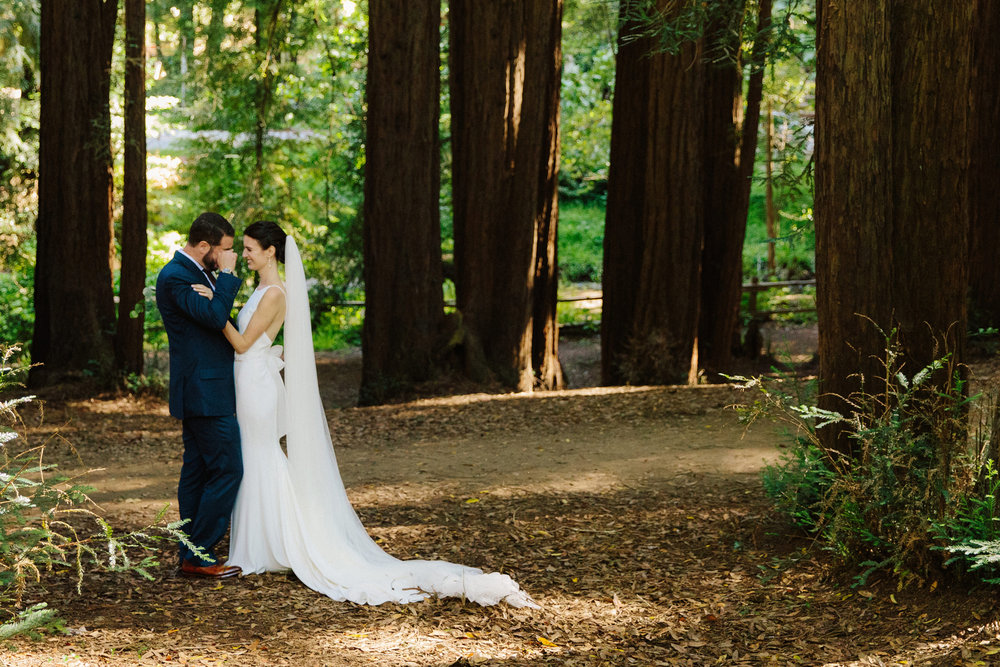 Mill Valley Bride & Groom in Redwood Forest