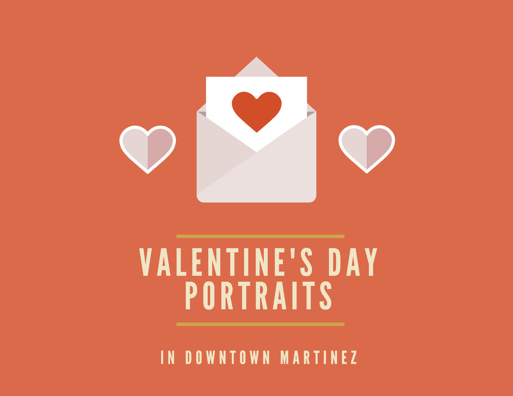 Downtown Martinez Valentine's Day Portraits