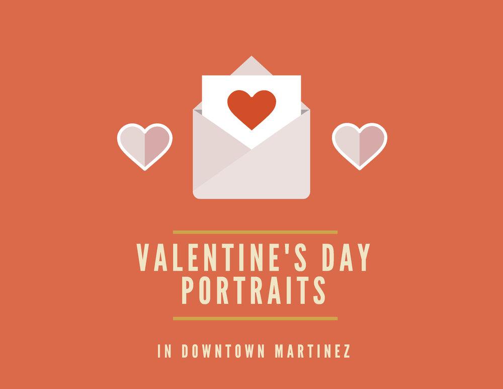 Downtown Martinez Valentine's Day Portraits