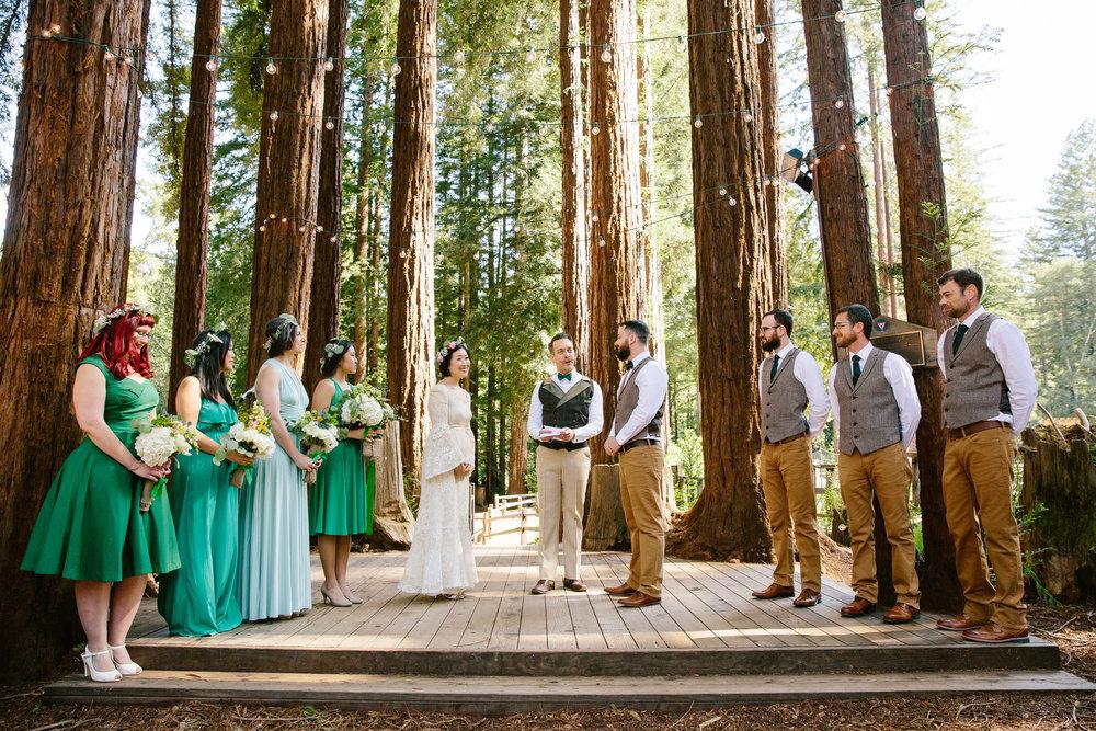 Redwoods Grove California Wedding