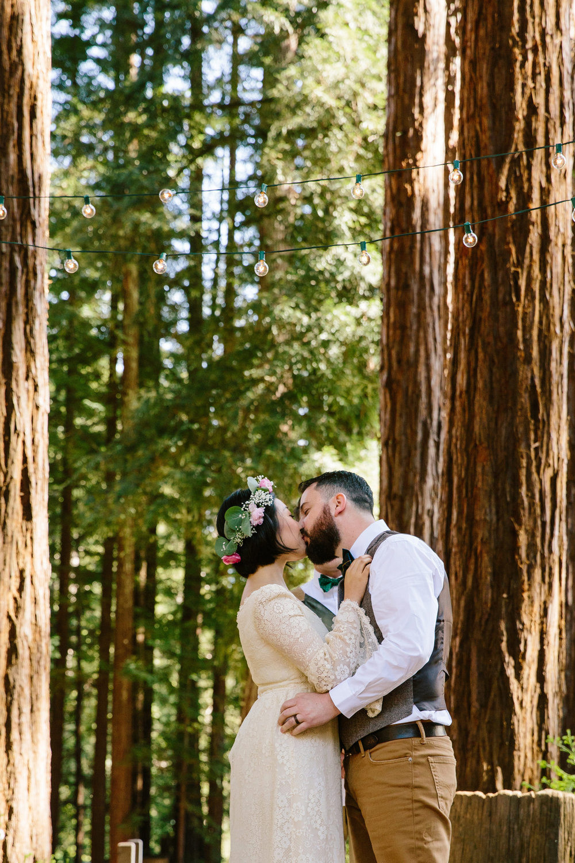 Wedding in Redwood Trees of Santa Cruz, California