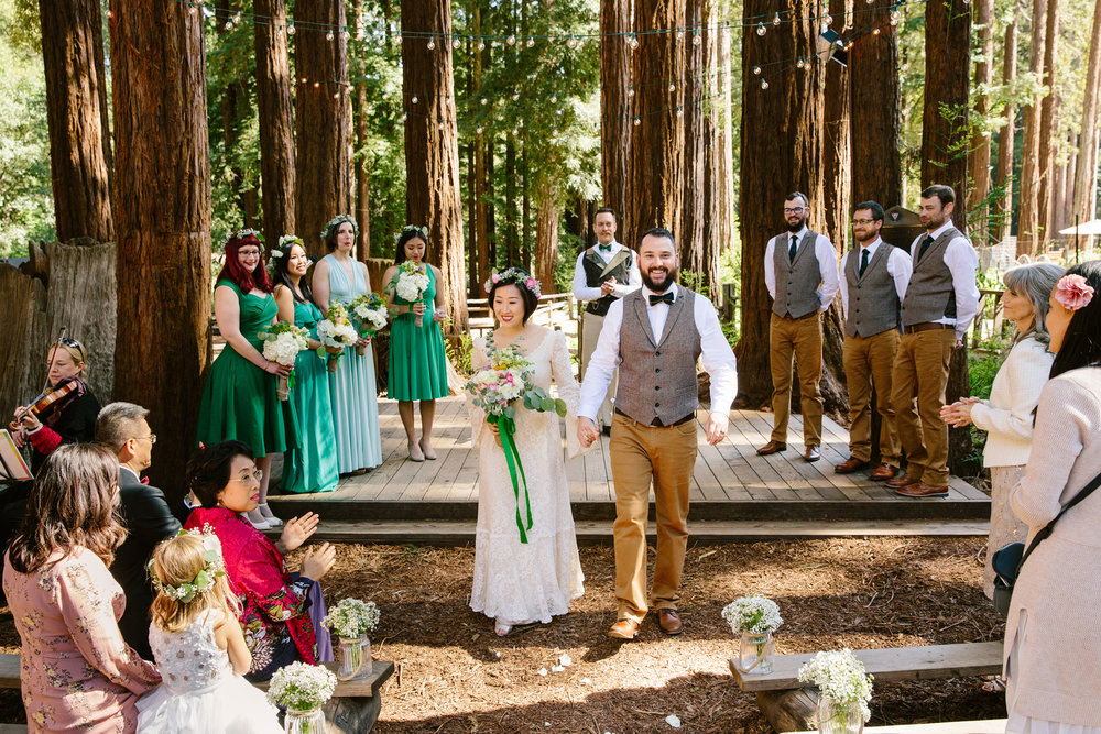 Wedding in a Redwood Grove