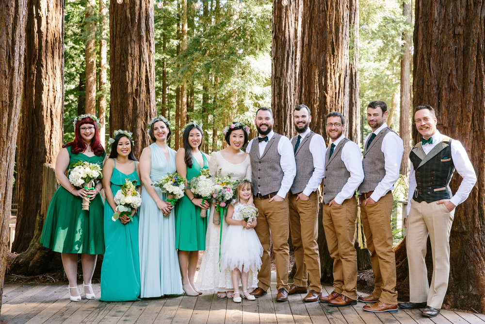 Camp Campbell Wedding in Redwood Trees