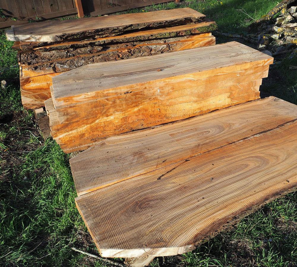Freshly Milled Lumber