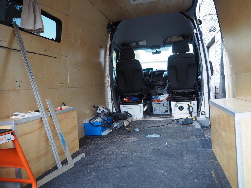Inside the Sprinter Van
