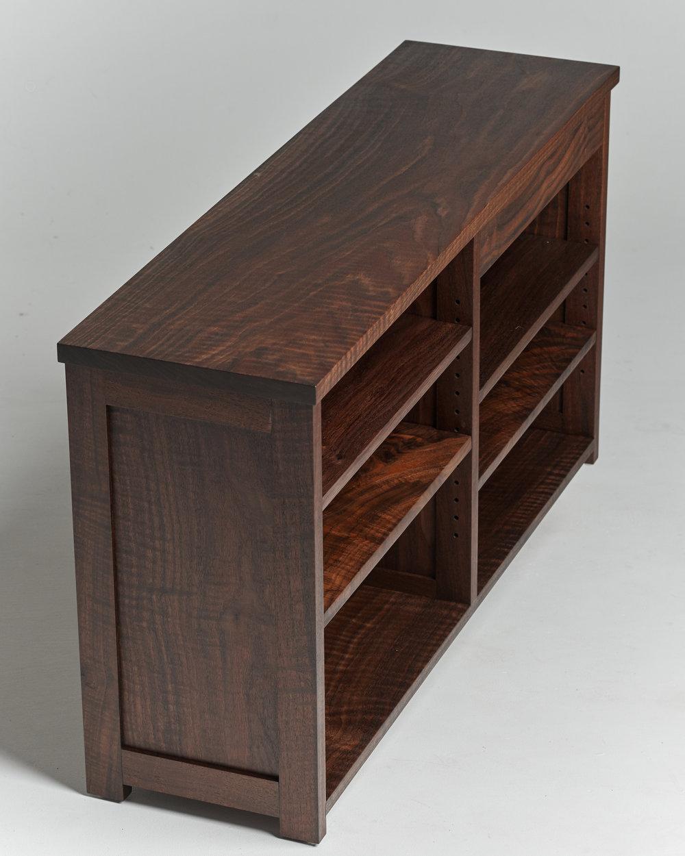 Side View of Western Walnut Cabinet