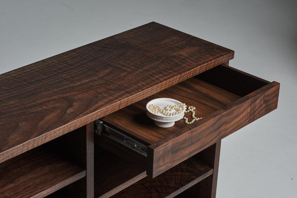 Top of Custom Walnut Cabinet