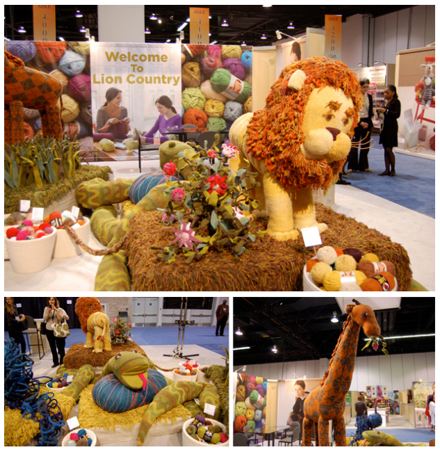 Lion Brand Yarn Co . // CHA Display // Anaheim, CA   Animal Heads & Faces // Design and Construction // Pattern Design // Production
