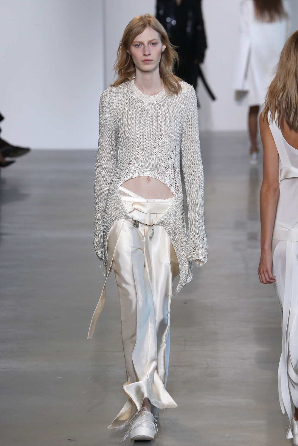 Machine Knit Jacket //  Calvin Klein Ready-To-Wear 2016 // NY, NY   Machine Knitting Production   Photo courtesy of  WWD