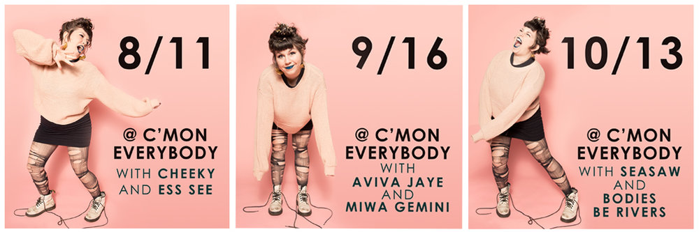 My residency at C'Mon Everybody continues September 16 and October 13!